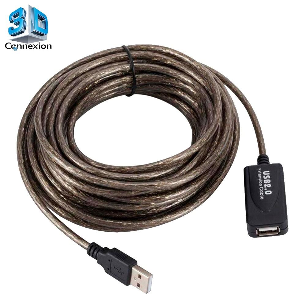 Extensor USB 2.0 ( Macho x Fêmea ) de 10 metros com repetidor ativo - 3DConnexion