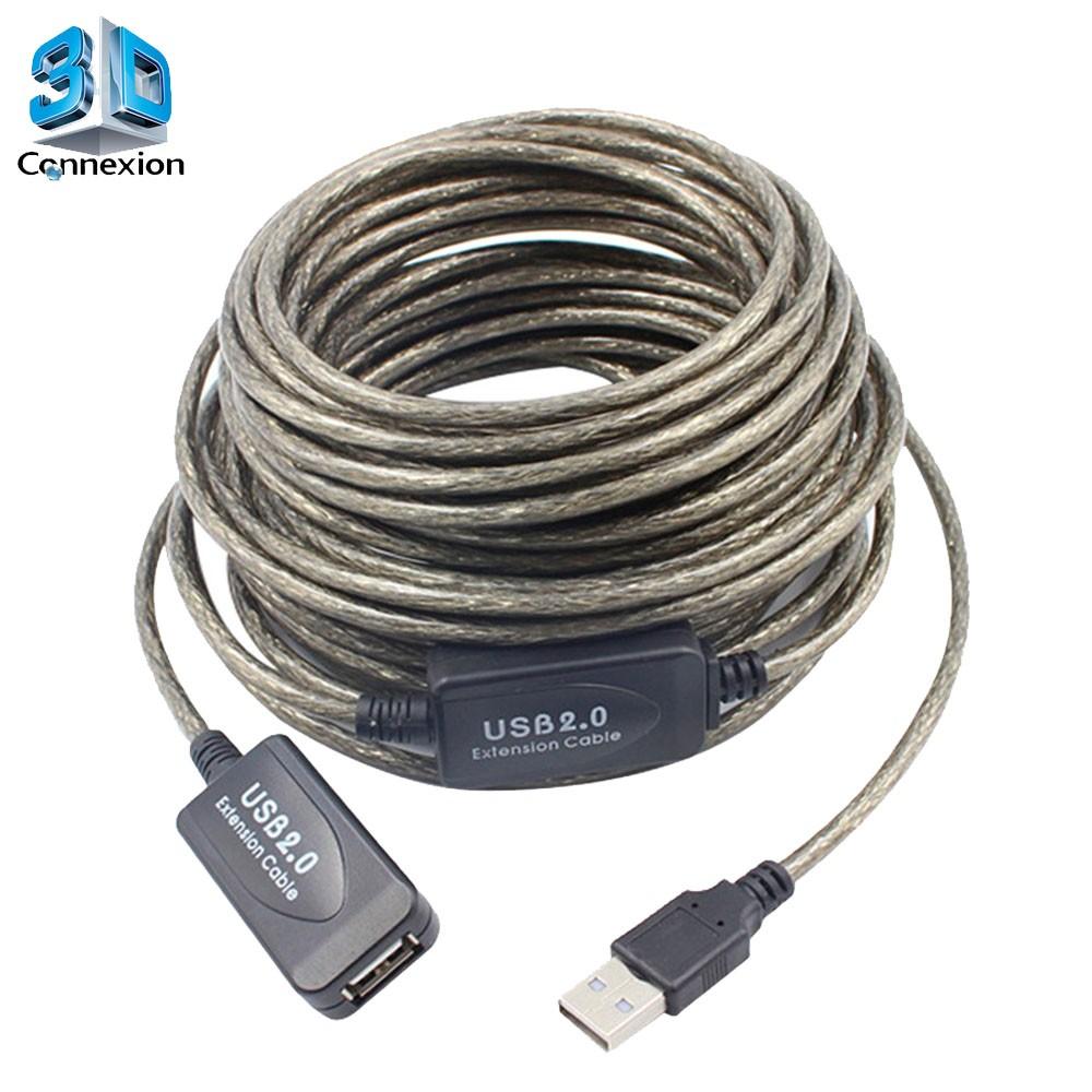 Extensor USB 2.0 ( Macho x Fêmea ) de 15 metros com repetidor ativo - 3DConnexion