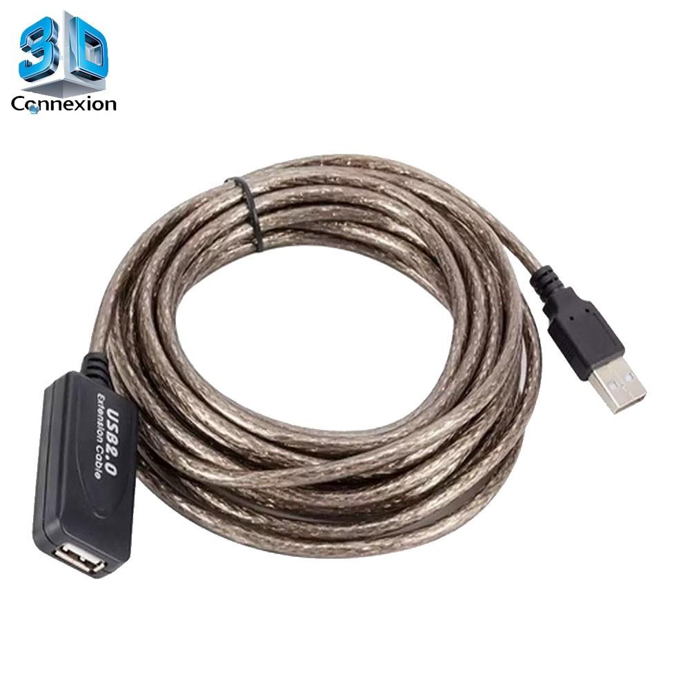 Extensor USB 2.0 ( Macho x Fêmea ) de 5 metros com repetidor ativo 3DConnexion
