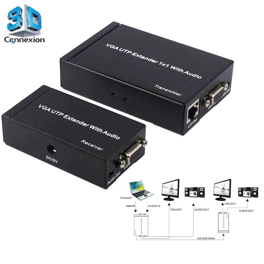 Extensor VGA com fonte até 300 metros ativo - 3DConnexion