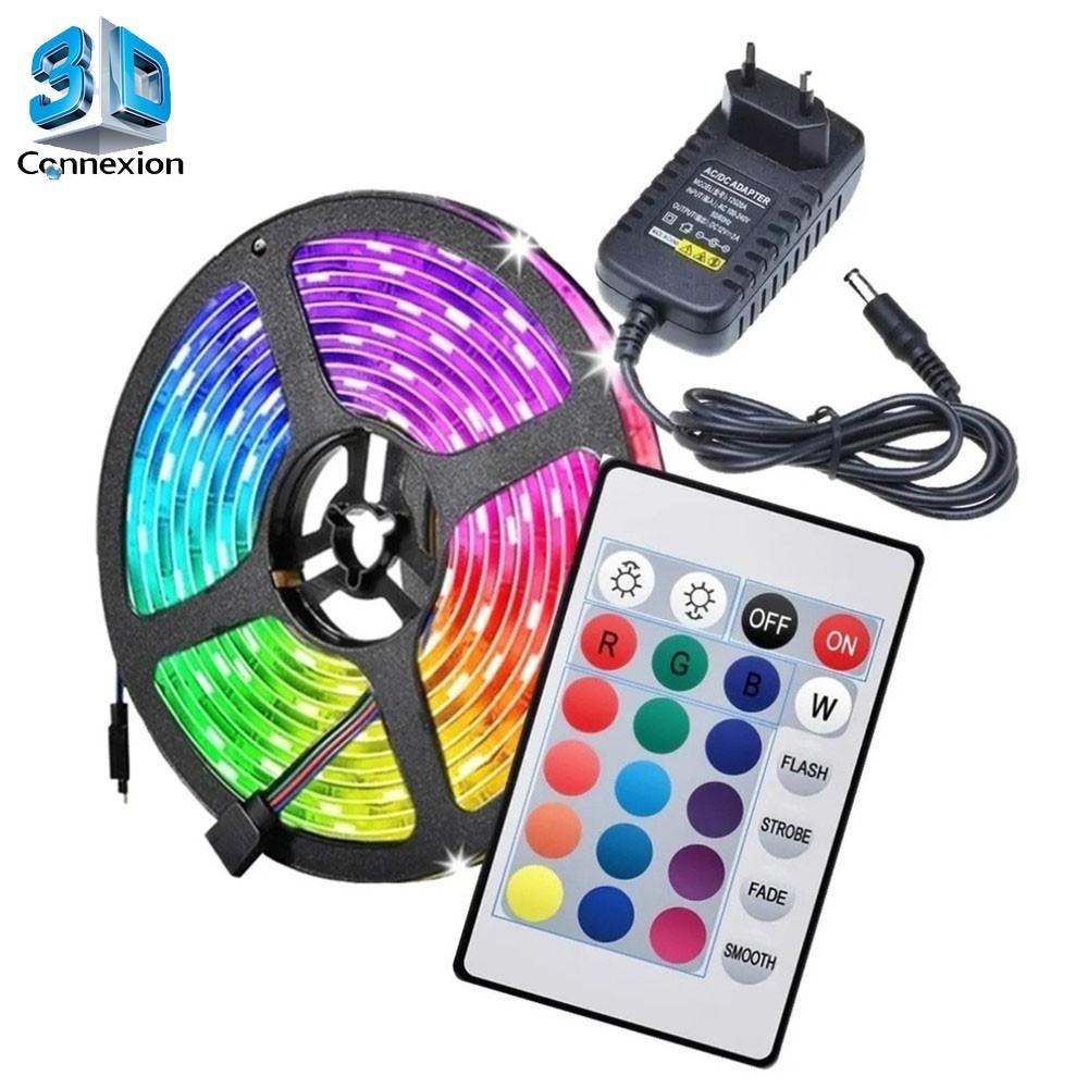 Fita Led SMD5050 5M RGB Color com Fonte de alimentação