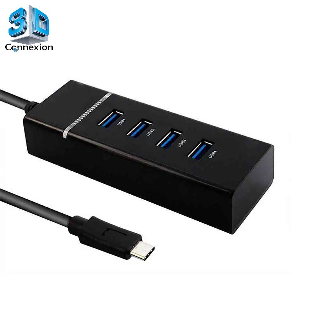 Hub USB Tipo C para USB 3.0 com 4 Portas (3DRJ1433)