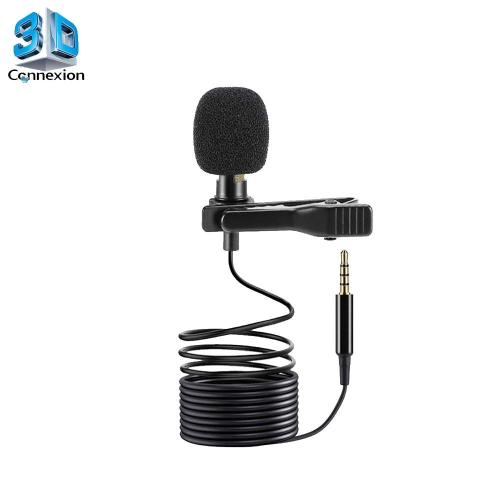 Microfone de Lapela P2 3 vias TRRS - 3DConnexion