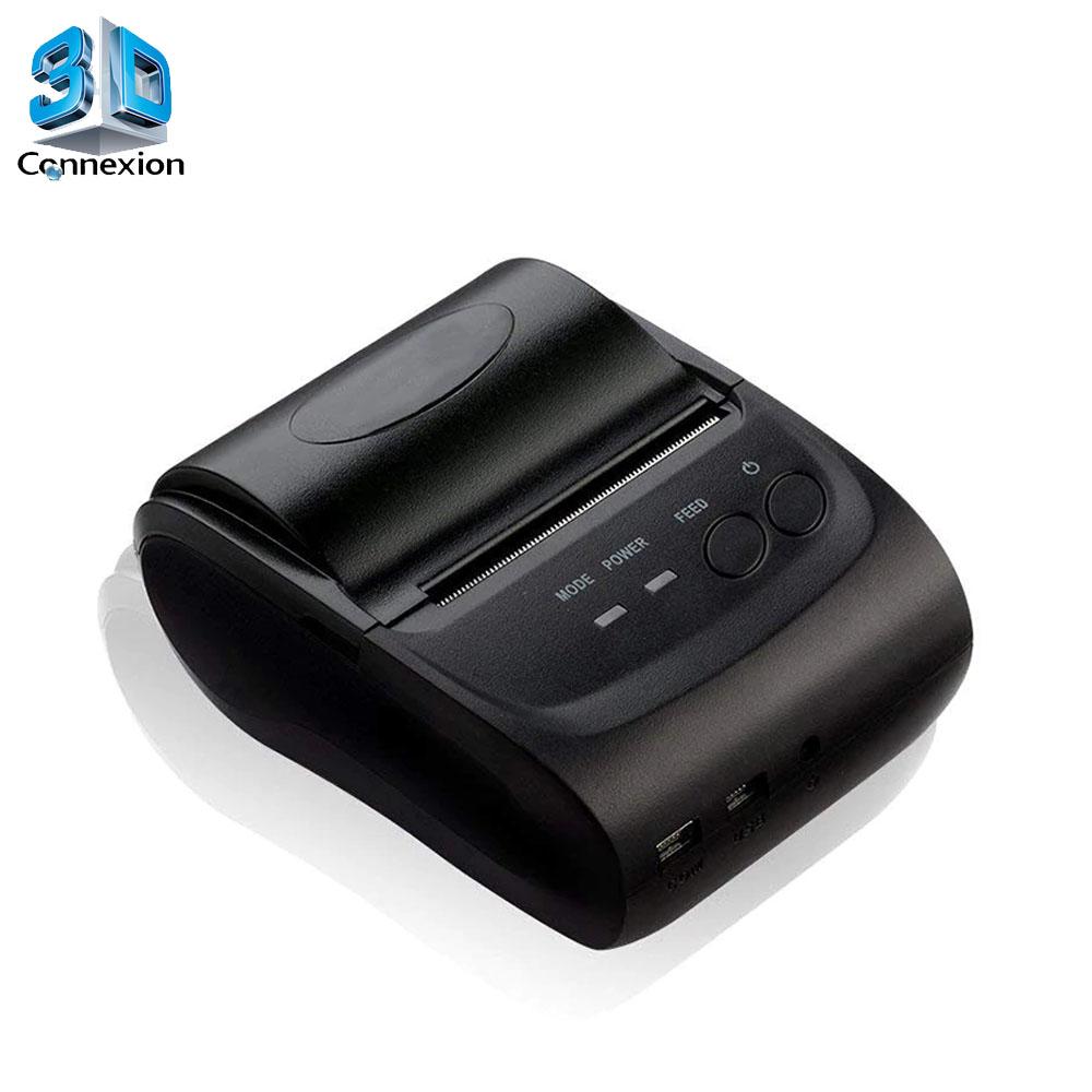 Mini Impressora Termica 58mm Bluetooth ou USB (3DRJ1435)
