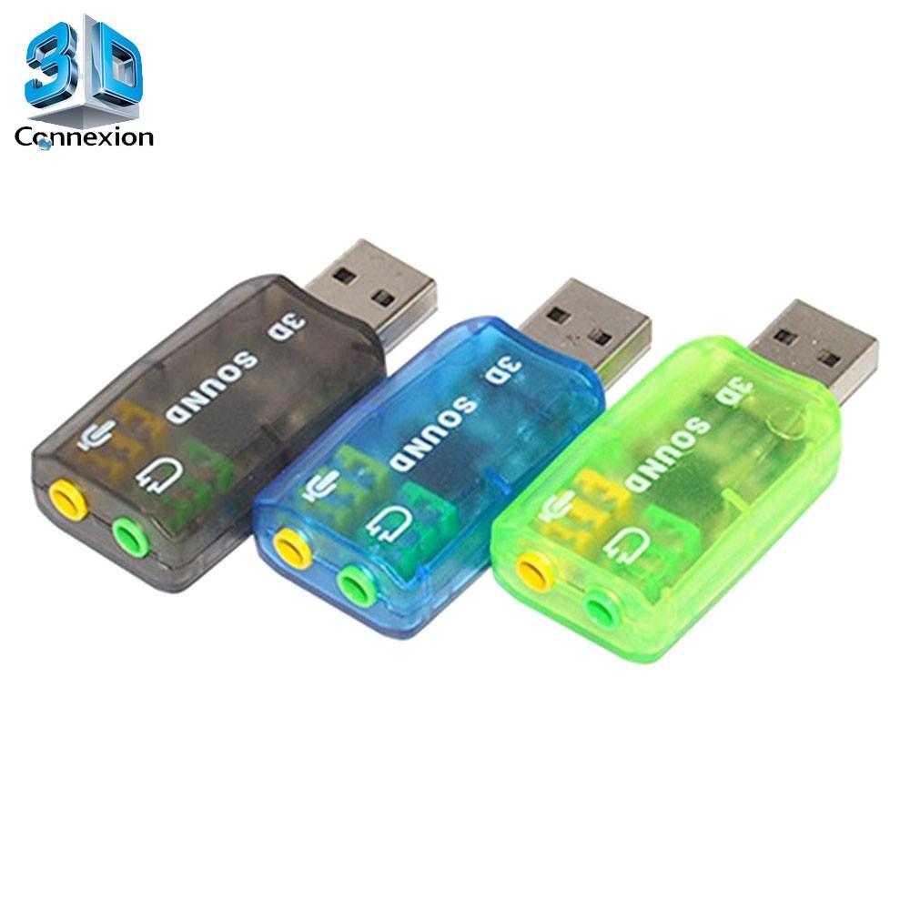 Placa de som USB 5.1 - 3DConnexion