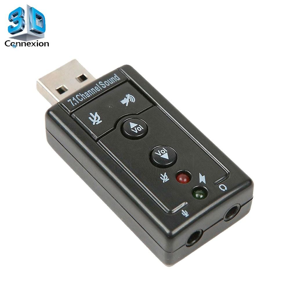 Placa de som USB 7.1 - 3DConnexion