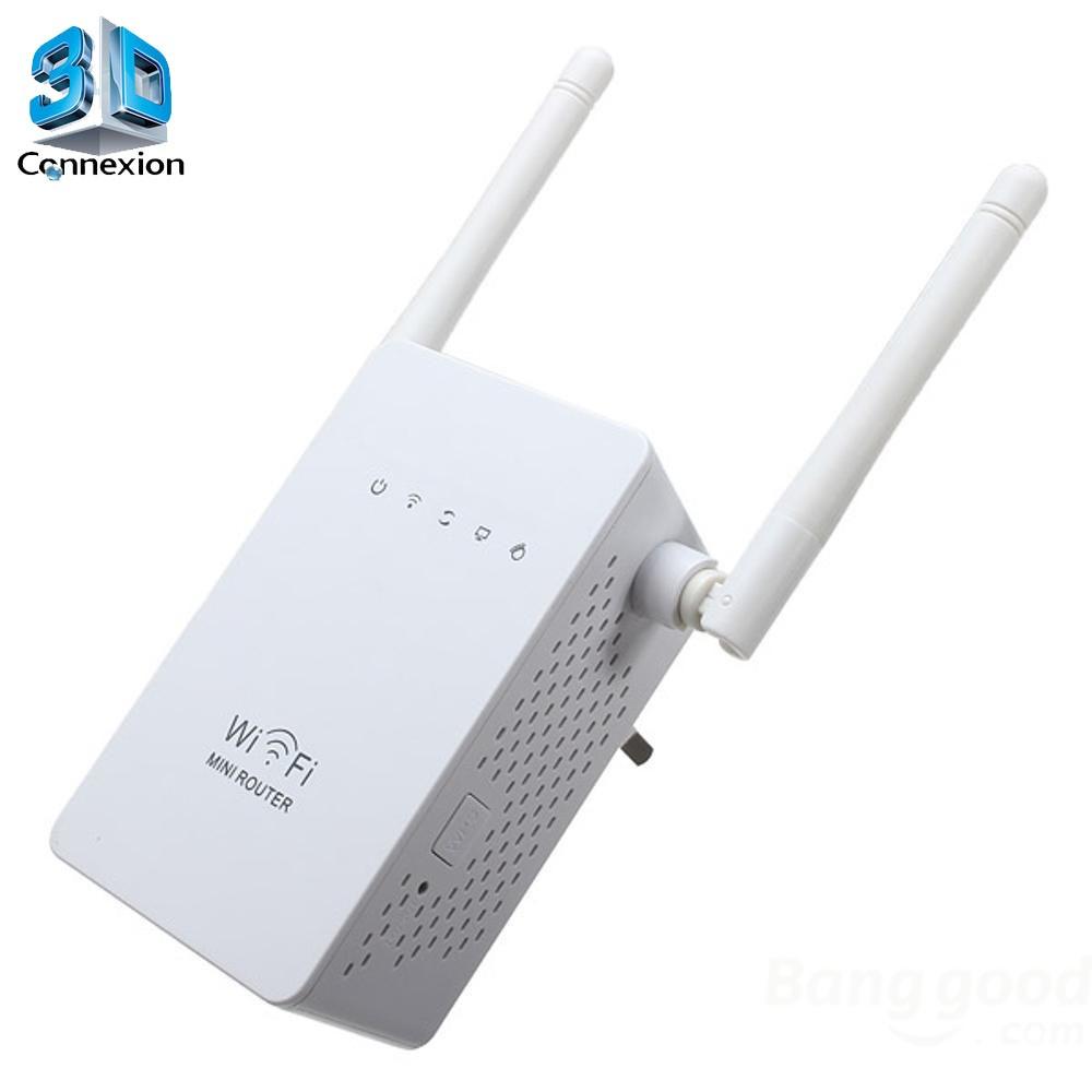 Repetidor Wi-Fi 600Mbps com 2 Antenas (3DRJ1347)