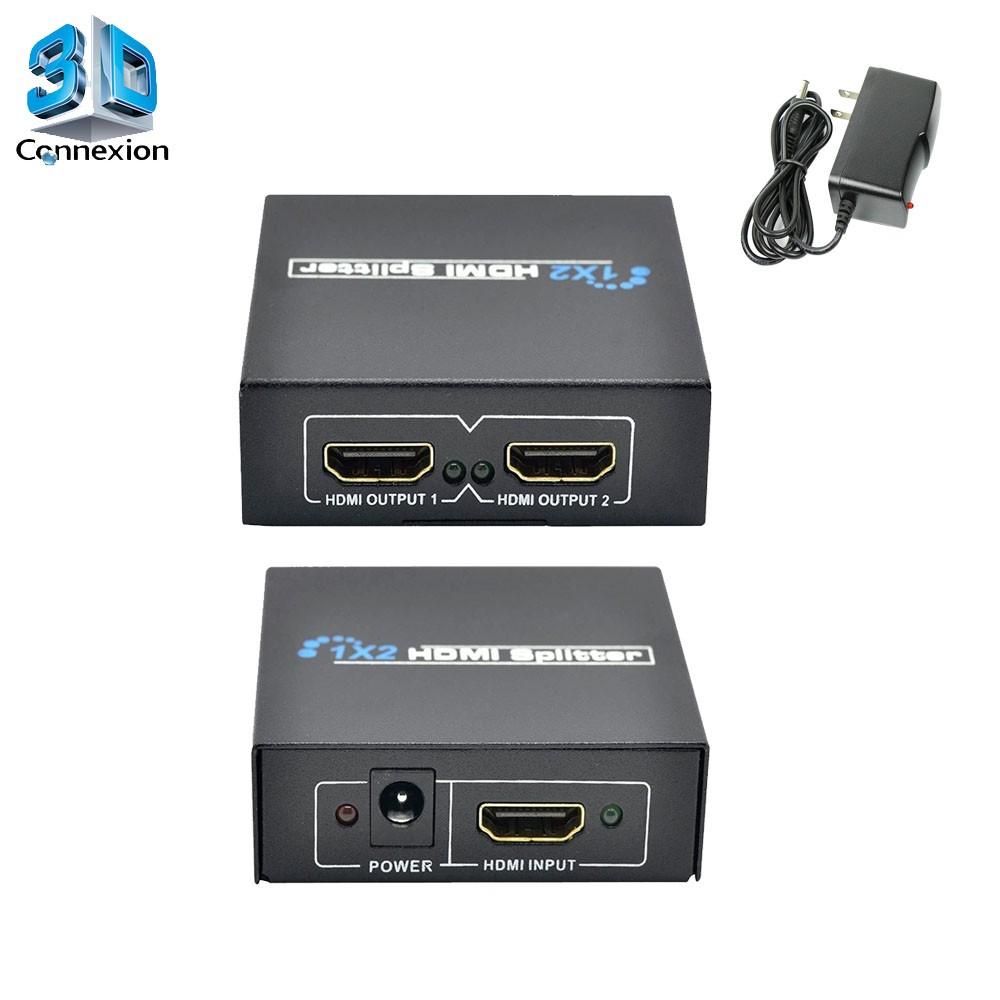 Splitter HDMI 1x2 com fonte Ativo ! - 3DConnexion