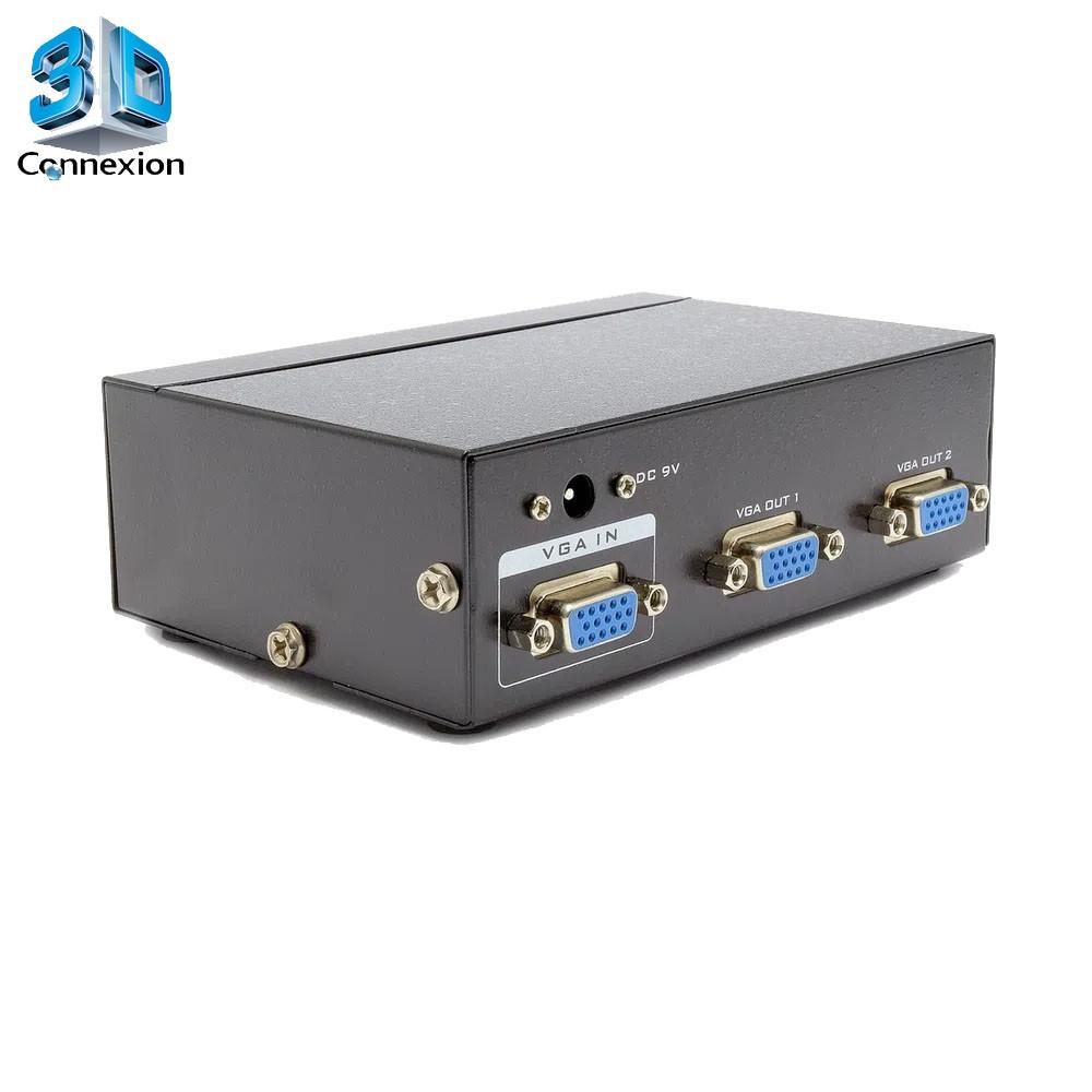 Splitter VGA 1X2 com fonte Ativo! - 3DConnexion