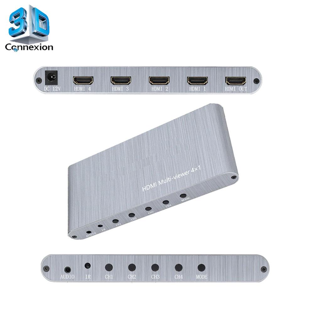 Switch Quad Screen HDMI 4 portas Multi-view (3DRJ1444)