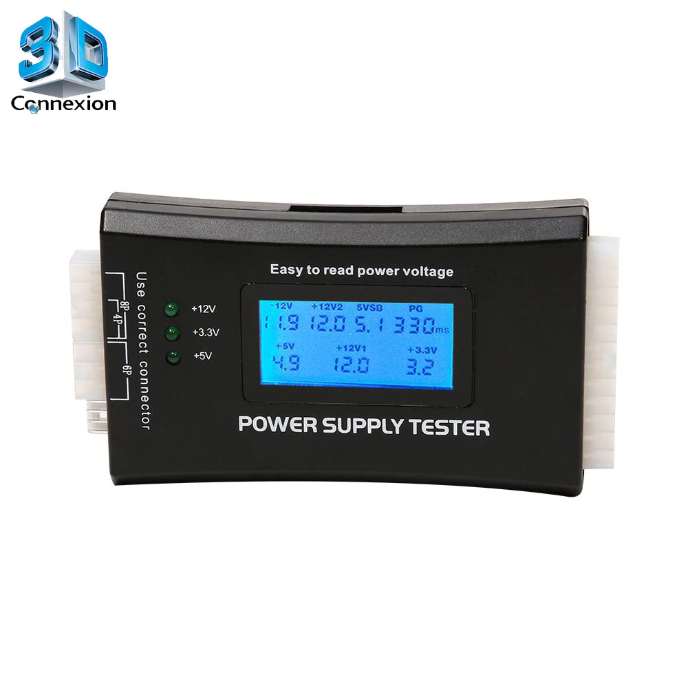 Testador de Fonte ATX com Display LCD (3DRJ1440)