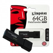 Pen Drive Kingston Datatraveler 100 G3 64GB Usb 3.1 - Dt100g3/64gb