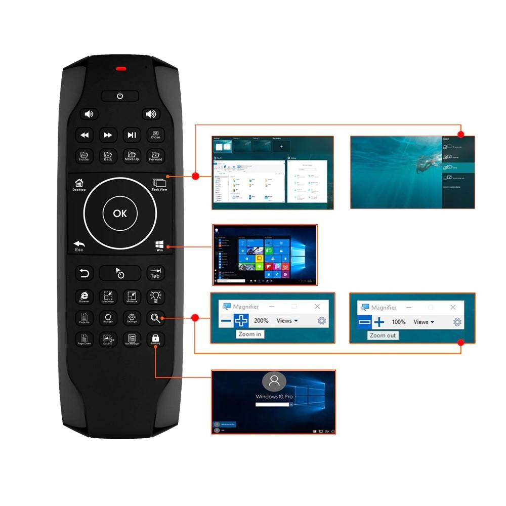 Air Mouse Led para Windows 10 modelo G7w com teclado