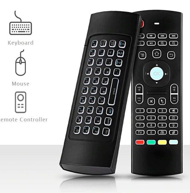 Controle Air Mouse S/f Teclas Iluminadas P/ Tv Box Smart Tv