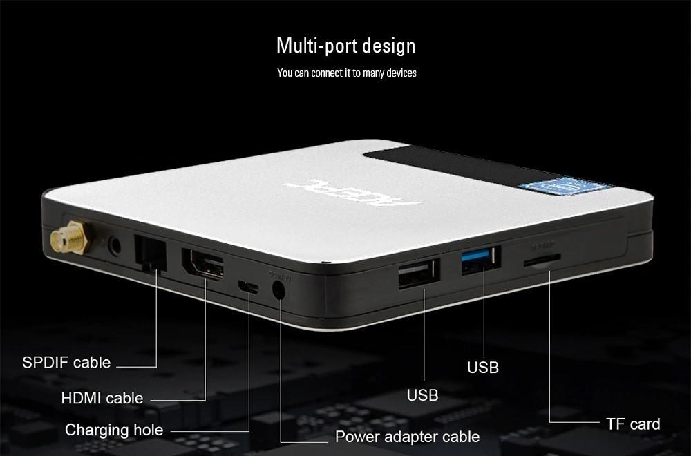 Mini PC ACEPC T9 - Preto 4GB ram + 32GB Armazenamento WINDOWNS 10