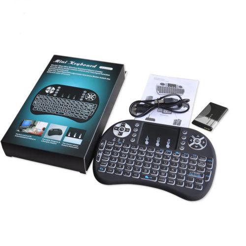 Mini Teclado Led Sem Fio Wirelles C/ Luz P/ Tvbox E Smart Tv