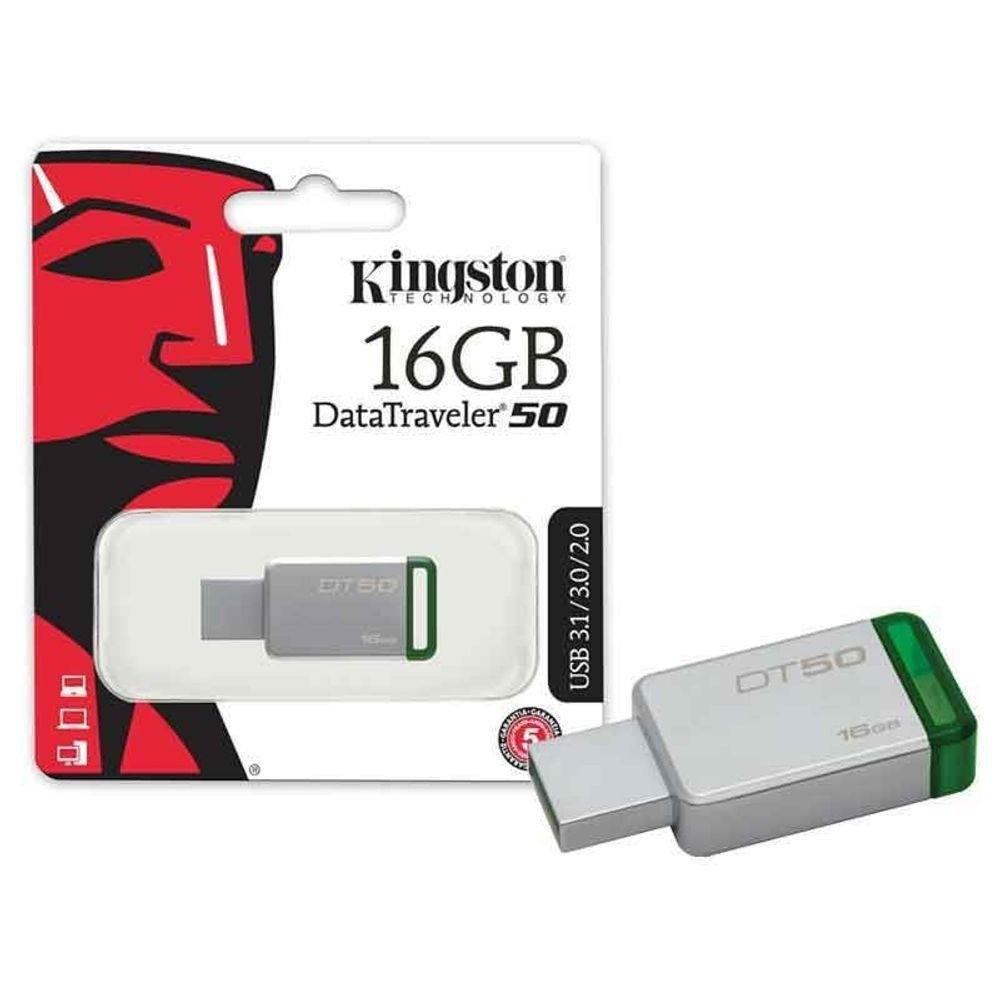 Pen Drive Kingston 16gb Usb 3.1 Data Traveler DT-50