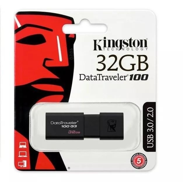 Pen Drive Kingston Datatraveler 100 G3 32gb Usb 3.1 - Dt100g3/32gb