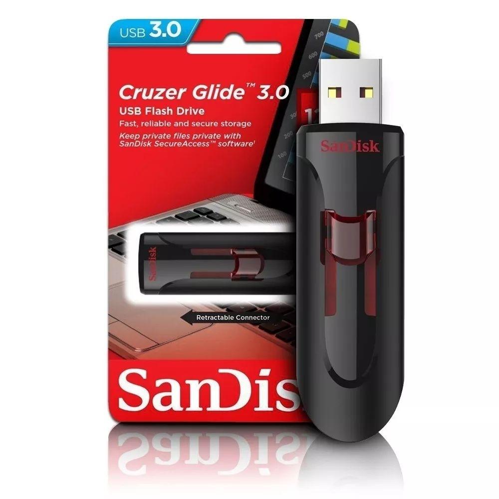 Pen Drive Sandisk 32gb Usb 3.0 Cruzer Glide - Lacrado