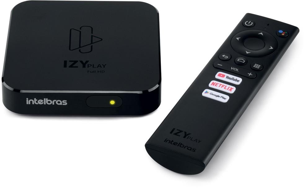 Smart TV Box Intelbras IZY Play Android TV 9.0 - Chromecast Integrado - CONFIGURADA