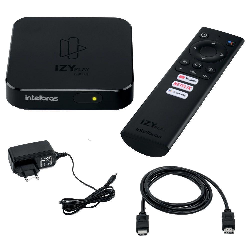 Smart TV Box Intelbras IZY Play Android TV 9.0 - Chromecast Integrado + Teclado Led