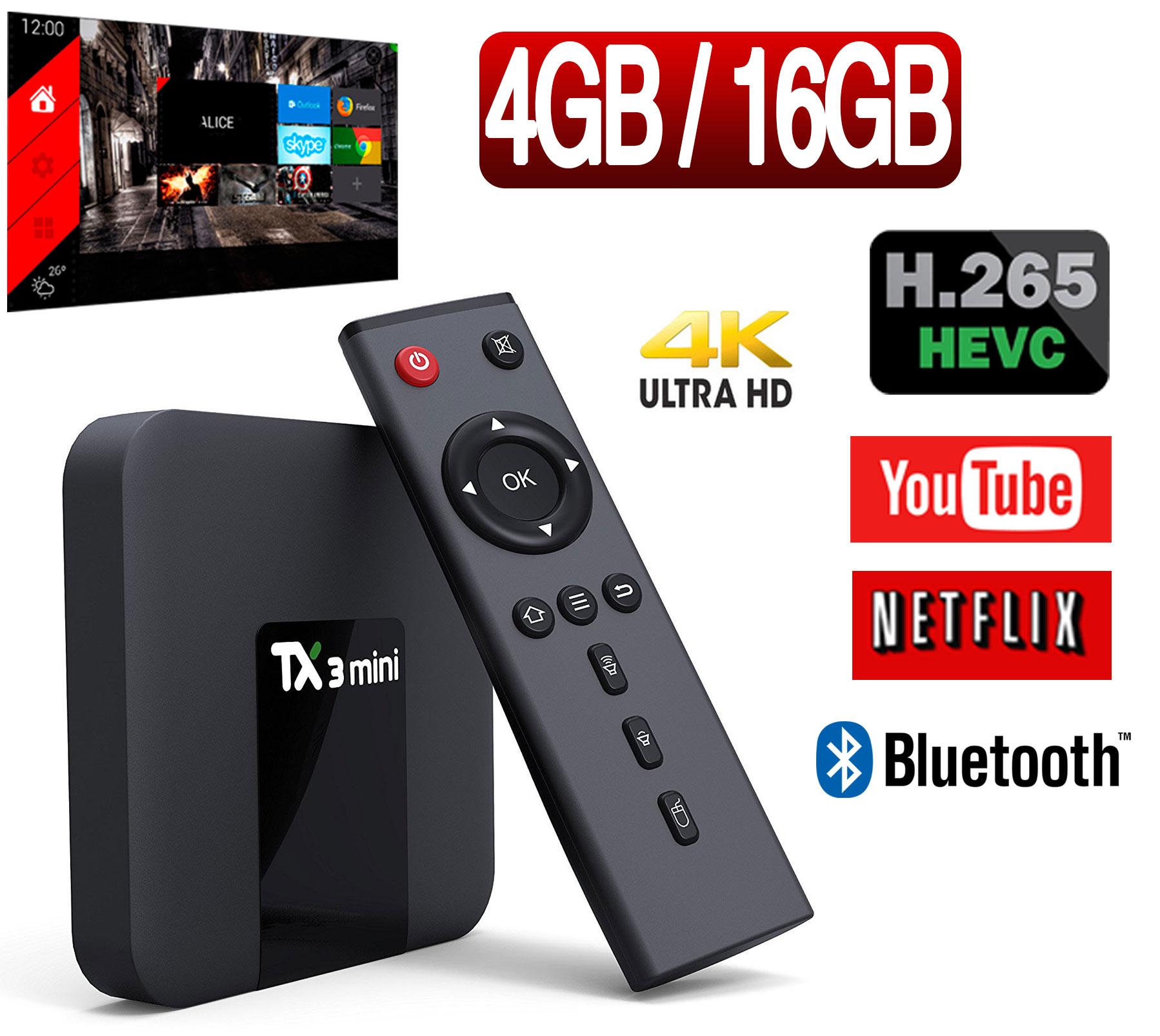 Tv Box TX3 YOUIT OCTACORE 4GB/16GB com BLUETOOTH E ALICE UX - CONFIGURADA