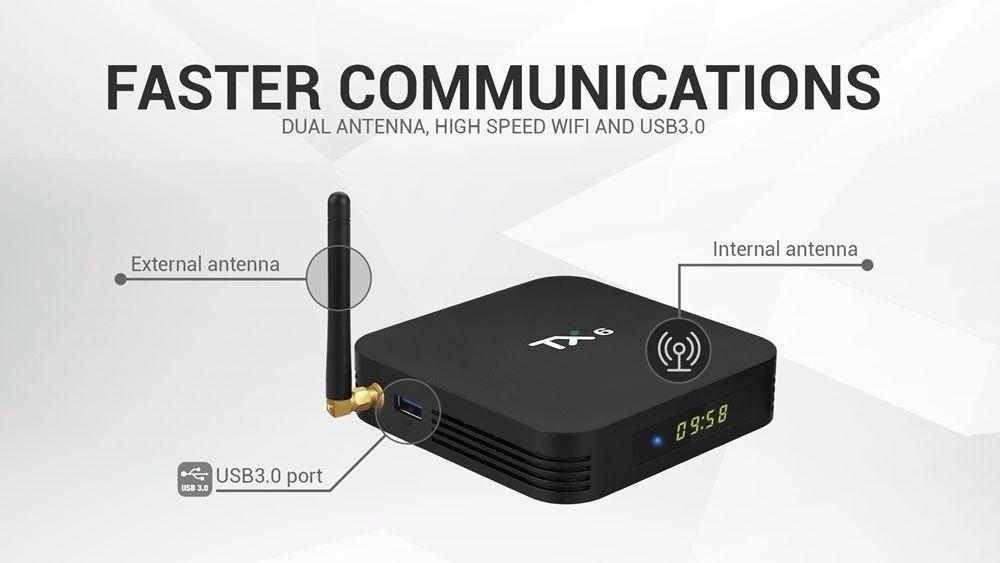 Tv Box TX6  2GB/16GB Android 9.0 ALLWINNER H6 - Alice UX