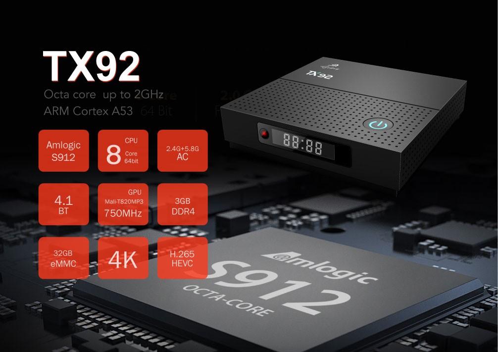 Tv Box TX92 4k Octacore 3gb/32gb Bluetooth Android 7.1 + Controle Ipega 9076
