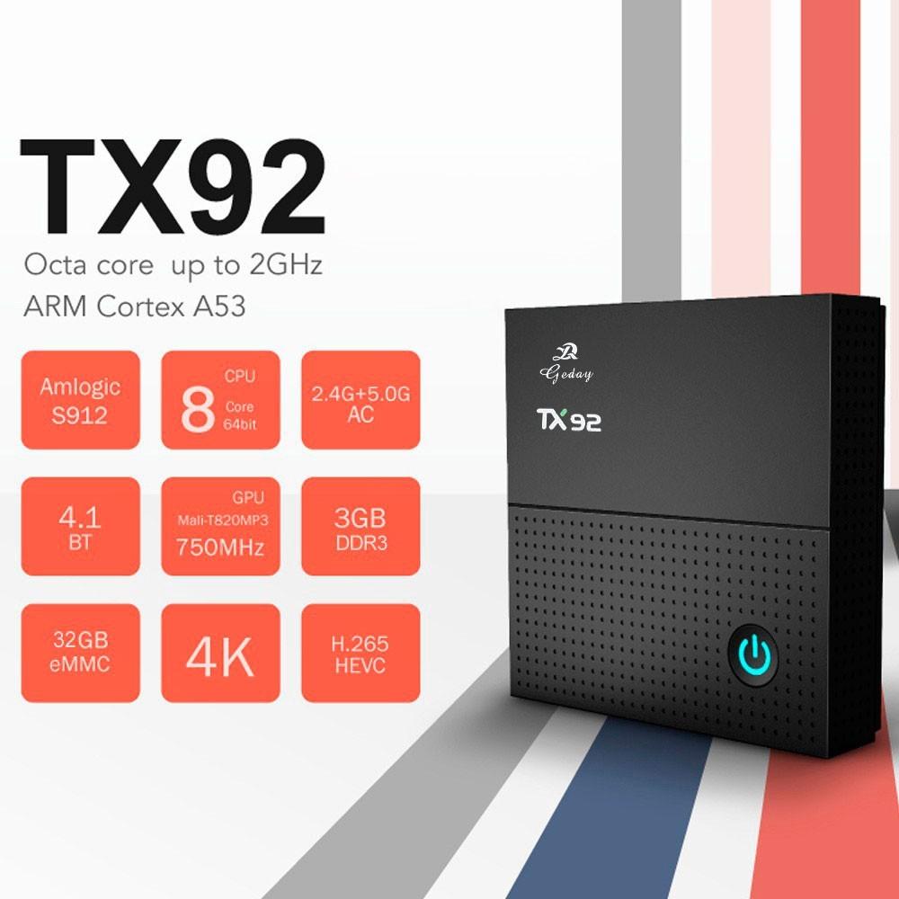 Tv Box TX92 4k Octacore 3gb/32gb Bluetooth Android 7.1 + Teclado Led