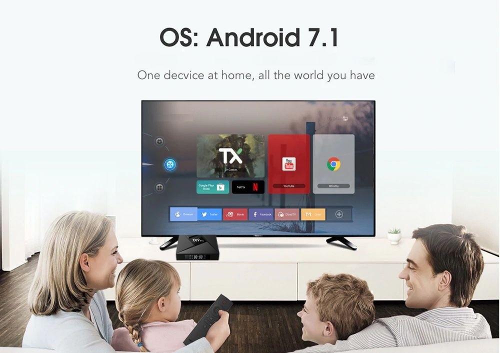 Tv Box TX9 Pro 4k Octacore 3gb/32gb Bluetooth Android 7.1