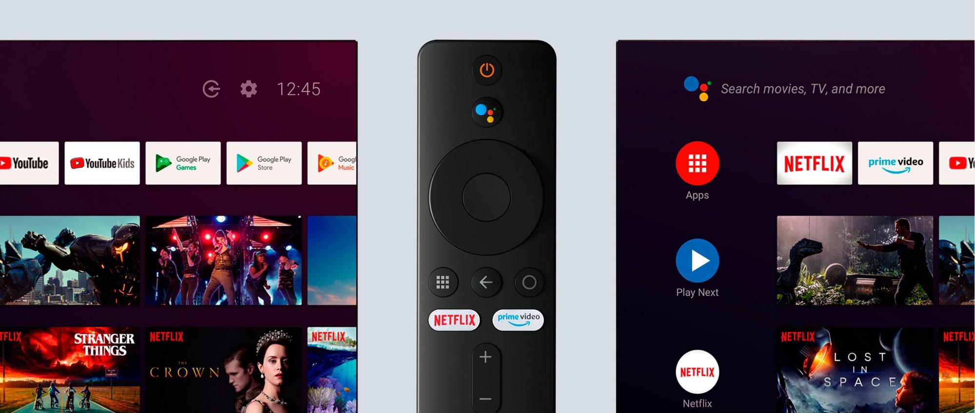 Xiaomi Mi Box S 4K Android TV 9.0 - CONTROLE NOVO 2020 + Teclado LED