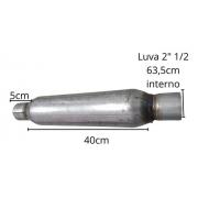 Abafador Universal Esportivo Jk Miolo 2.1/2 Polegadas 63.5mm