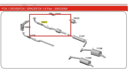 Catalisador Crossfox 1.6 8v 2006 2007 2008 Spacefox 1.6 Polo