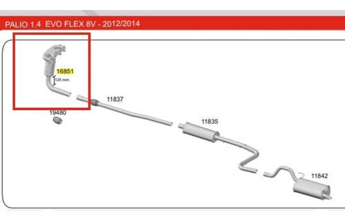 Catalisador Palio 1.4 Evo Flex 8v 2012 2013 2014