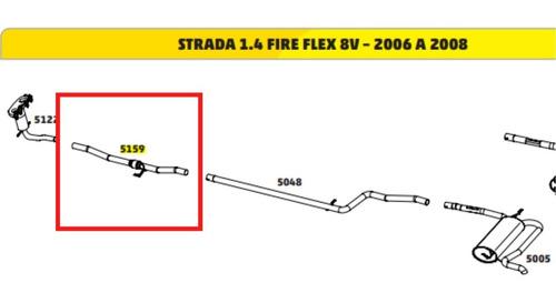Escapamento Flexivel Strada 1.4 8v 2005 2006 2007 2008