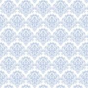 Papel de Parede Arabesco Jacquard Azul Fundo Branco