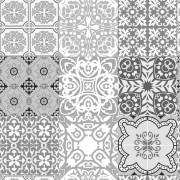 Papel de Parede Azulejo Português Preto e Branco