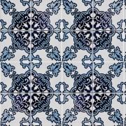 Papel de Parede Azulejo Vintage Abstrato Azul