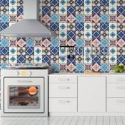 Papel de Parede Azulejos Portugueses Tons Fortes