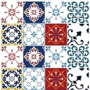 Papel de Parede Azulejos Variados Português