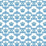 Papel de Parede Baby Coroa Azul