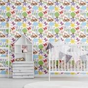 Papel de Parede Baby Patchwork Colorido