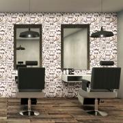 Papel de Parede Casual Barber Shop