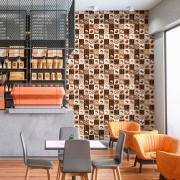 Papel de Parede Casual Café Cafeteria