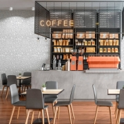 Papel de Parede Casual Café Cinza