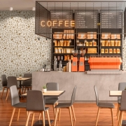 Papel de Parede Casual Coffee Marrom