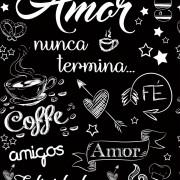 Papel de Parede Casual Coffee e Amor