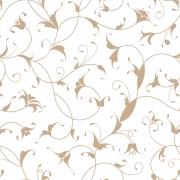 Papel de Parede Floral Bege