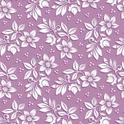 Papel de Parede Floral Branco Fundo Lilas