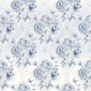 Papel de Parede Floral Buquê Azul